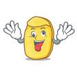 crazy potato chips mascot cartoon vector image vector image