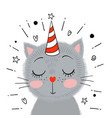 cute little gray kitten vector image