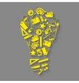 Designer tools idea concept vector image vector image
