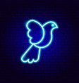 dove bird neon sign vector image