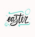 easter typographical background hand drawn vector image vector image