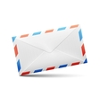 envelope with red and blue stripes vector image