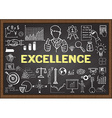 Excellence on chalkboard vector image
