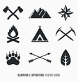 Expedition symbols vector image vector image