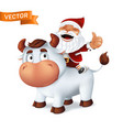 funny silver ox animal symbol year in the vector image vector image