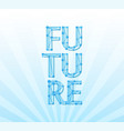 future banner with title and coly space for vector image vector image