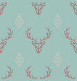 geometric seamless scandinavian pattern a deer vector image