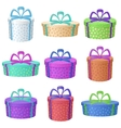 Gift holiday boxes vector image vector image