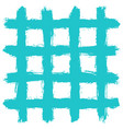 grid pattern by brushstroke texture vector image vector image