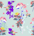 hand drawing seamless floral pattern - wild flower vector image