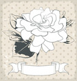 hand drawn of a single flower EPS 10 vector image vector image