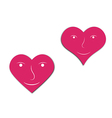 hearts with face vector image vector image