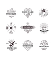Hipster wine making grape labels logos vector image vector image
