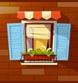 house facade cartoon old vector image vector image