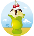 ice cream cup - holiday refreshing vector image vector image