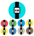icon watches on colored backgrounds vector image vector image