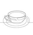 latte cup one continuous line graphic vector image
