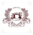 logo coffee house premium badge vector image vector image