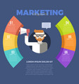 marketing infographic template vector image vector image