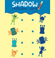 matching monster shadow game vector image vector image