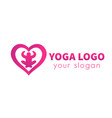 meditation yoga logo element vector image