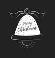 merry christmas lettering design and decoration vector image vector image
