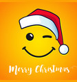 merry christmas smile greeting card vector image