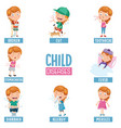 of child diseases vector image vector image