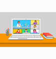 online education chemistry class teleconference vector image vector image