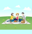 people on a picnic vector image vector image