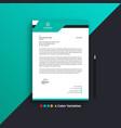 professional creative business letterhead design vector image vector image