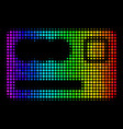 rainbow colored dot banking card icon vector image vector image