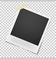 realistic retro photo frame haning on single vector image