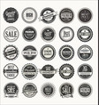 Retro labels and badges collection