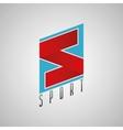 s logo sport logo sport design s letter concept vector image