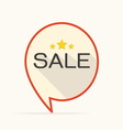 Sale flat design icon for business vector image vector image
