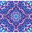 seamless pattern with bright blue ornament Tile in vector image