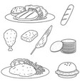 set of chicken product vector image vector image