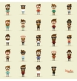 Set of Hipsters vector image