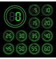 Set of icons stopwatch vector image vector image