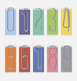 Set of metal paper clips vector image vector image
