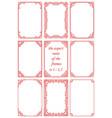 set rectangular frames in vintage style vector image vector image