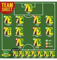 Soccer of Football Team Sheets vector image vector image