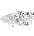 soccer word cloud concept vector image vector image