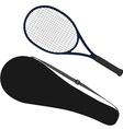 Tennis racket racket cover vector image vector image