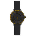 the black wonans wrist watches vector image vector image