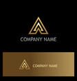 Triangle gold arrow company logo
