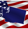 united states washington dark blue silhouette on vector image