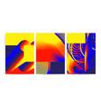 universal trend gradient geometric posters vector image vector image