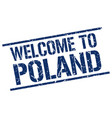 welcome to poland stamp vector image vector image